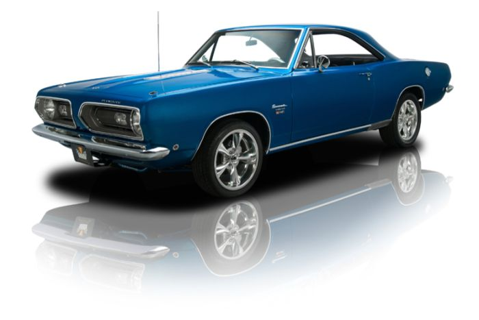 1968 Plymouth Barracuda Hardtop. Blue Barracuda. And you thought the song said, oooh Barracuda... lol