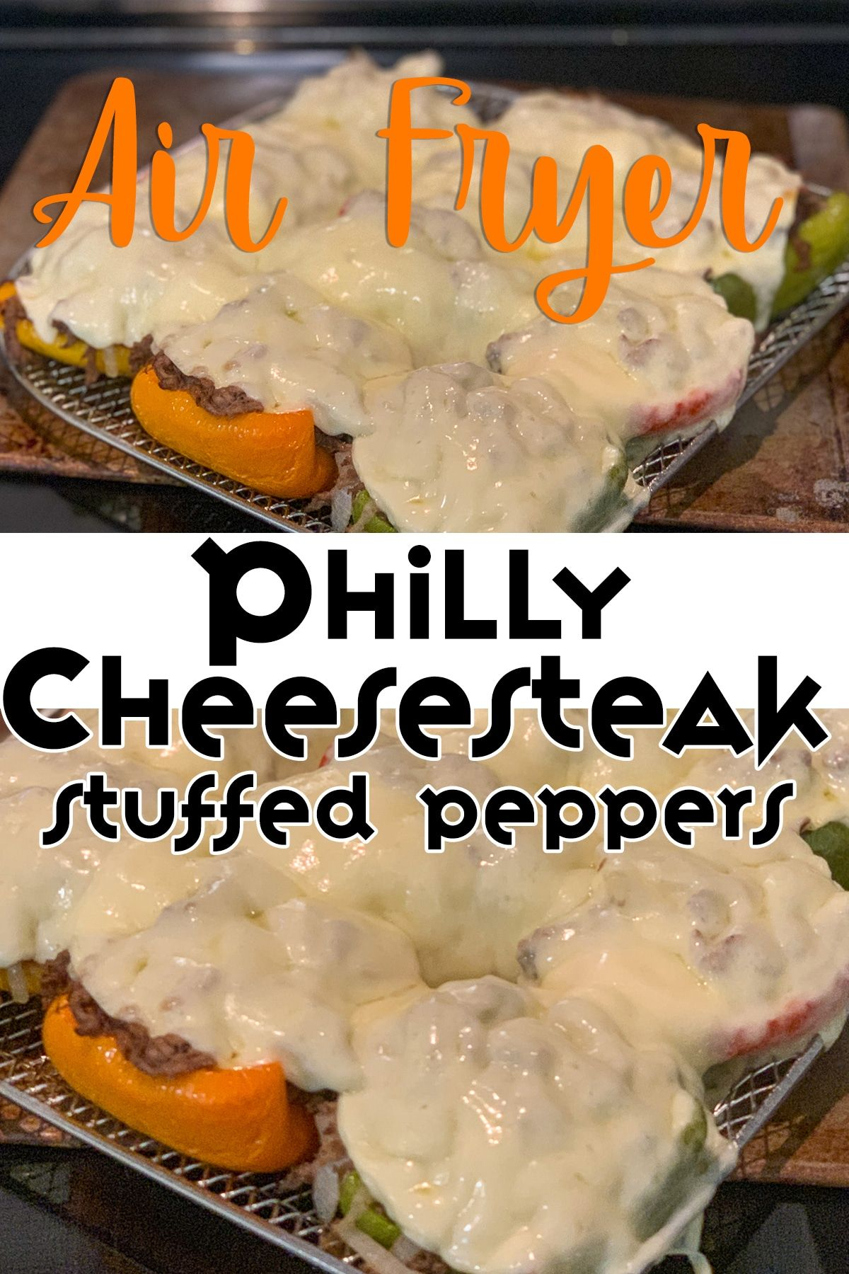 Air Fryer Philly Cheesecake Stuffed Peppers Recipe in