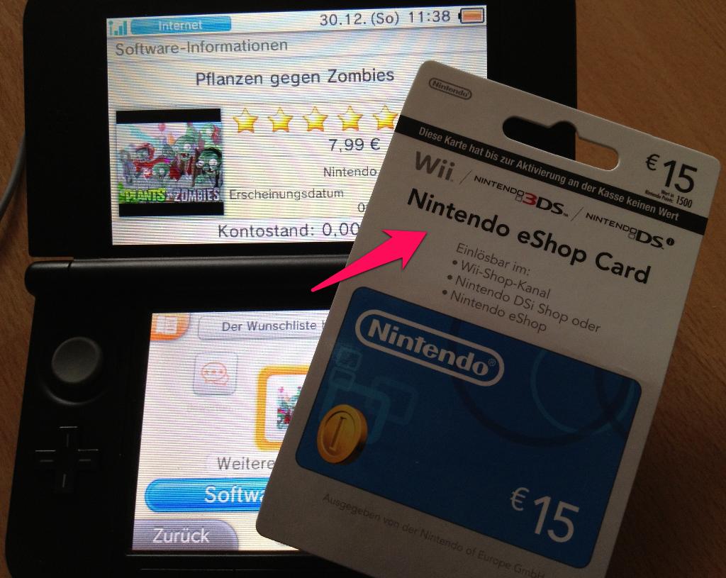 Nintendo 3DS XL – Nintendo eShop Card Guthaben aufladen » Es ...