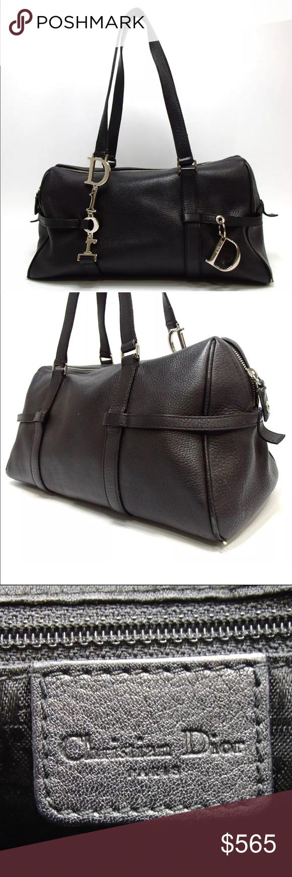 "Christian Dior charm shoulder bag Category  Handbag Brand  Christian Dior  Size W33cm x H17cm x D15cm Handle 43cm W13.0""x H6.7""x D5.9"" Handle 16.9   Color  ... 77b2939b8fa7a"