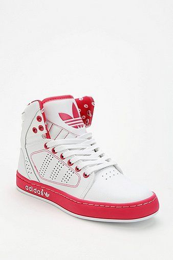 adidas Kiss Print Leather High-Top Sneaker  0b79b891e7