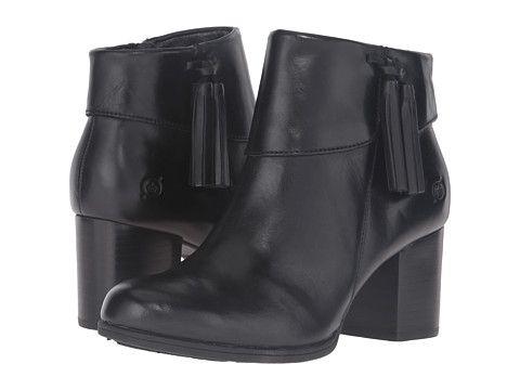 Born Mauvide Black Full Grain Leather Women