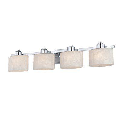 allen + roth 4-Light Grayson Polished Chrome Bathroom ...
