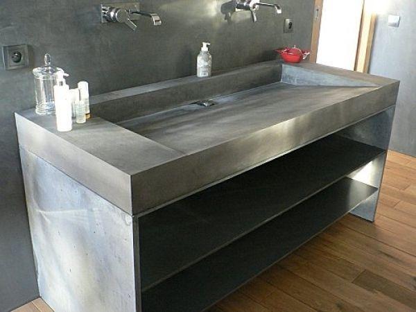 Le béton « design » la déco - peinture beton cire mur