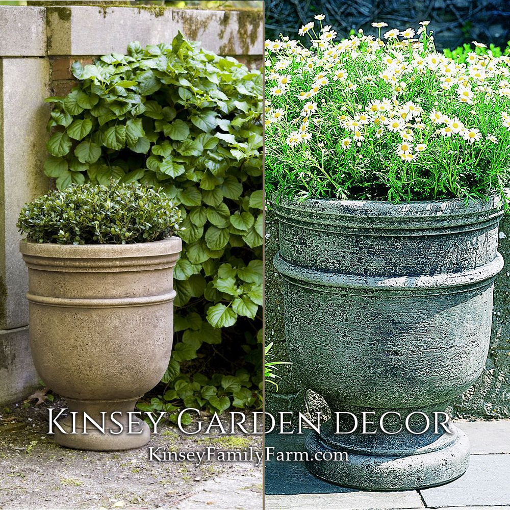 Kinsey Garden Decor St Remy Cast Stone Outdoor Urn Planters Patio Set Concrete Cement French Provincial Decoratin Outdoor Urns Urn Planters Garden Plant Pots