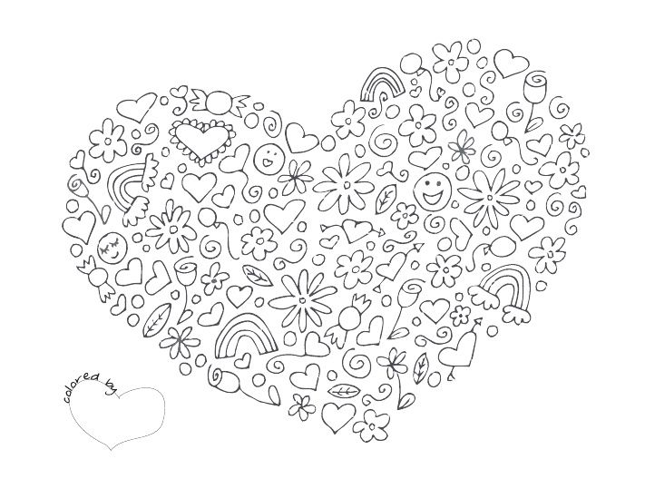 Heart Coloring Page Pdf Valentine Coloring Pages Heart