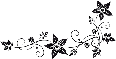 Flower Border Png Black And White Hd Png Download Flower Border Flower Border Png Digital Flowers