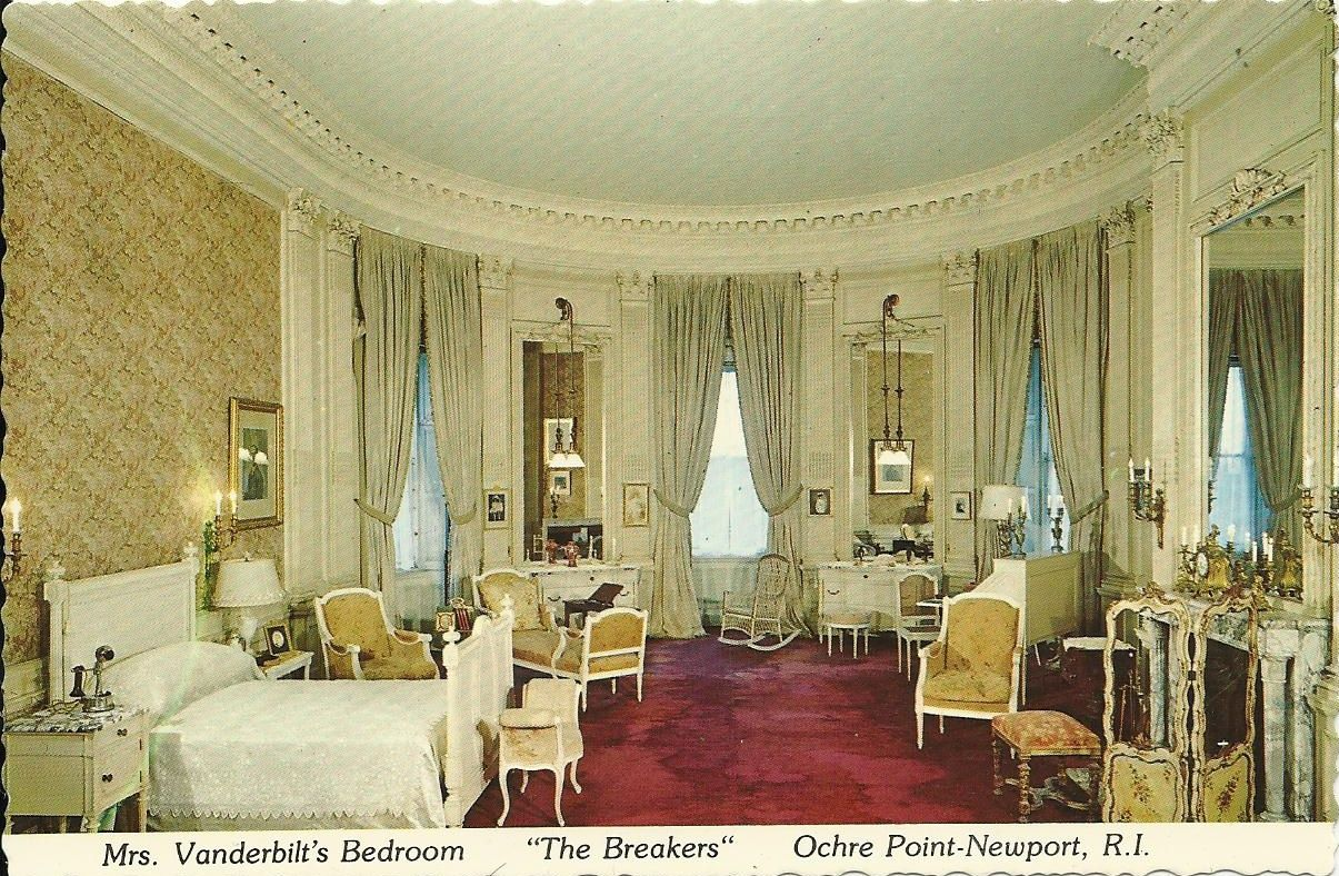 "Mrs. Vanderbilt's Bedroom. ""The Breakers"". Ochre Point"