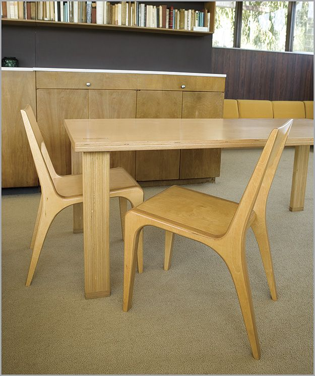 Case Study Tenon Dining Room Table Chairs In Natural Finish