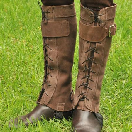 Gaiters Half Chaps Leather Accessories Leather Boots