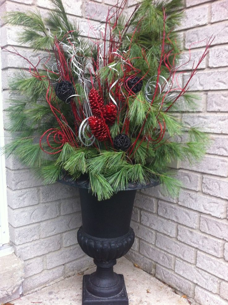 Christmas Urn Decorations For Outdoors Image Result For Christmas Decorations For Urns  Christmas