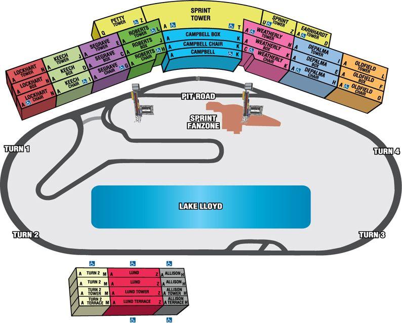 Daytona International Speedway Seating Chart Daytona Beach Nascar