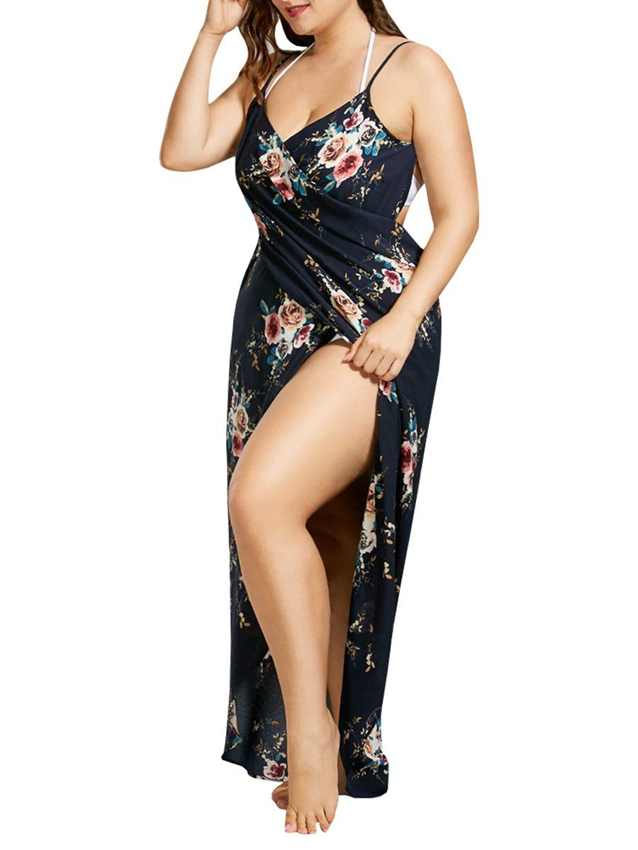 999ee250c8c4e8 Chellysun Women's A Piece Of Sexy Suspenders Print Dress - Chellysun#woman  #womanpower #dresses #springfashion #springstyle #eveningdresses #party  #lace ...