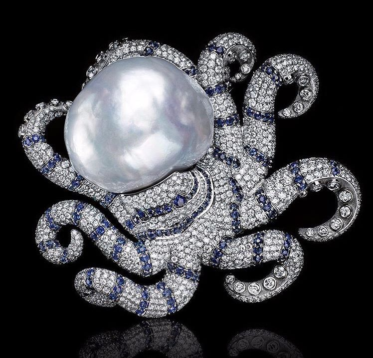 Amazing octopus with baroque pearl from #Tiffany