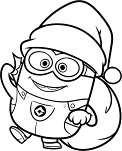 minion coloring christmas picture how to draw a christmas minion step 11 minion coloring pages