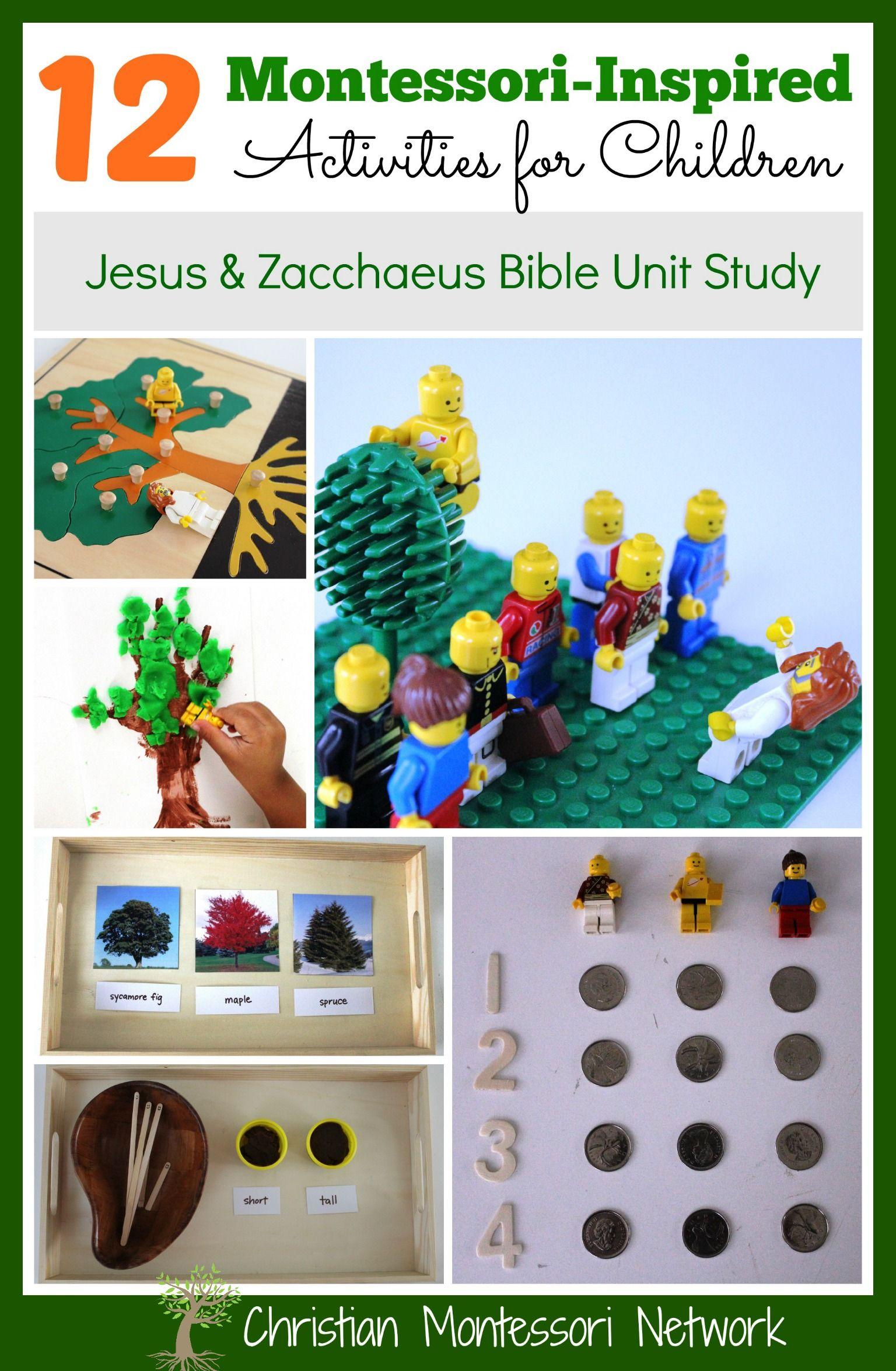 Zacchaeus Montessori Inspired Bible Lesson