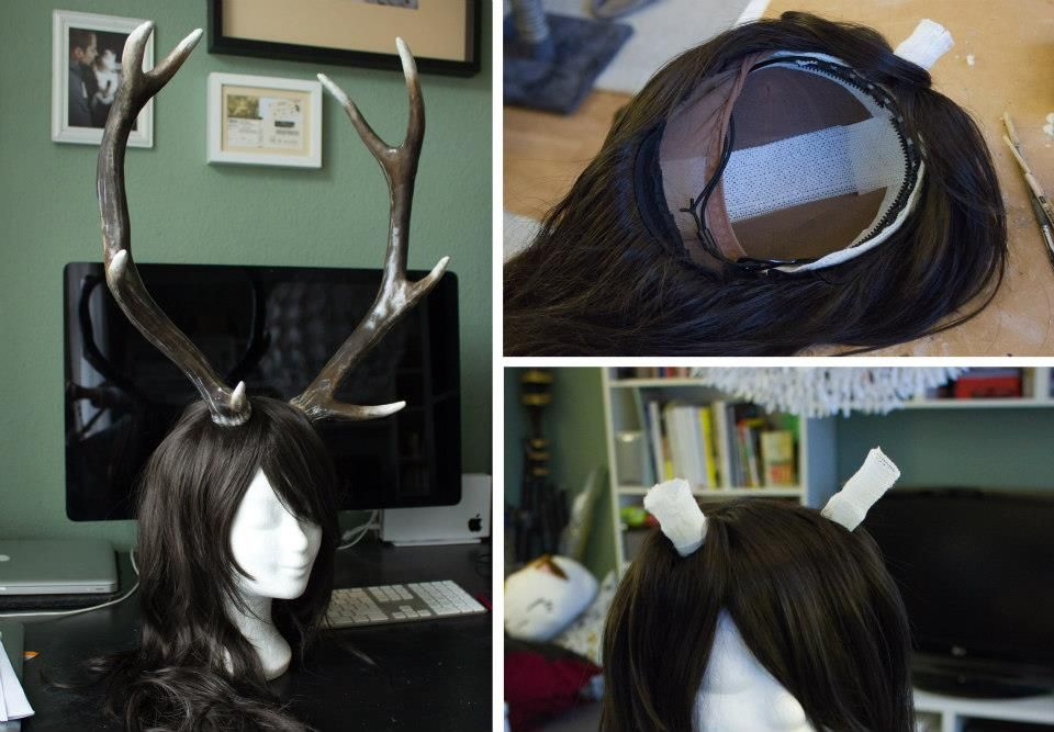 Attaching horns to a wig  60dbc0a92