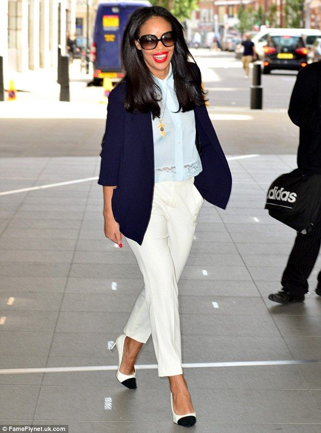 Sarah-Jane Crawford steps out after landing role on The Xtra Factor #dailymail