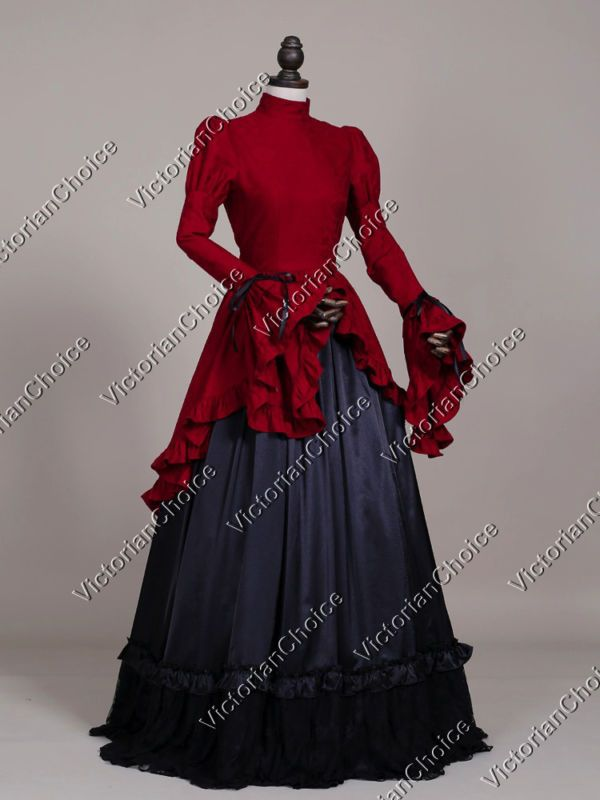 Victorian Edwardian Vintage Gothic Gown Steampunk Cosplay Theater ...