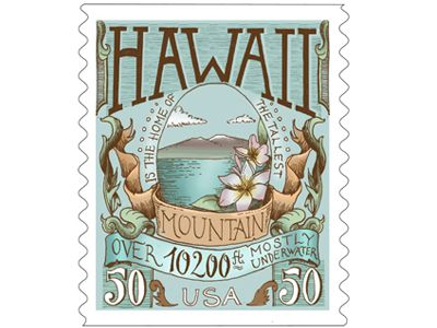 Beautiful Hawaii #postagestamp #design || Biljana Kroll