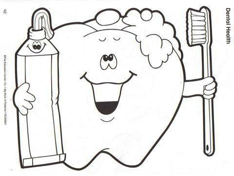 Coloring Page Malvorlagen Zahngesundheit Zahne Putzen