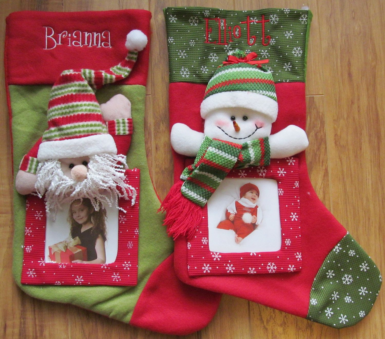 Personalized Monogram Custom Childrens Baby First Christmas Stocking