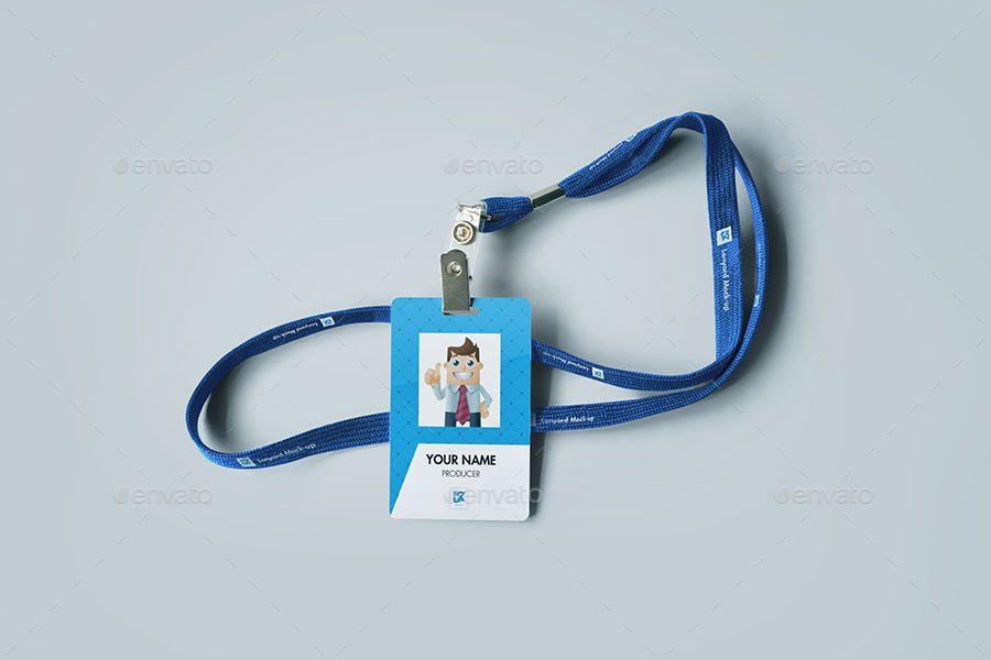 Lanyard Nametag Mock Up V1 Presentation Template Free Name Tags Card Sizes