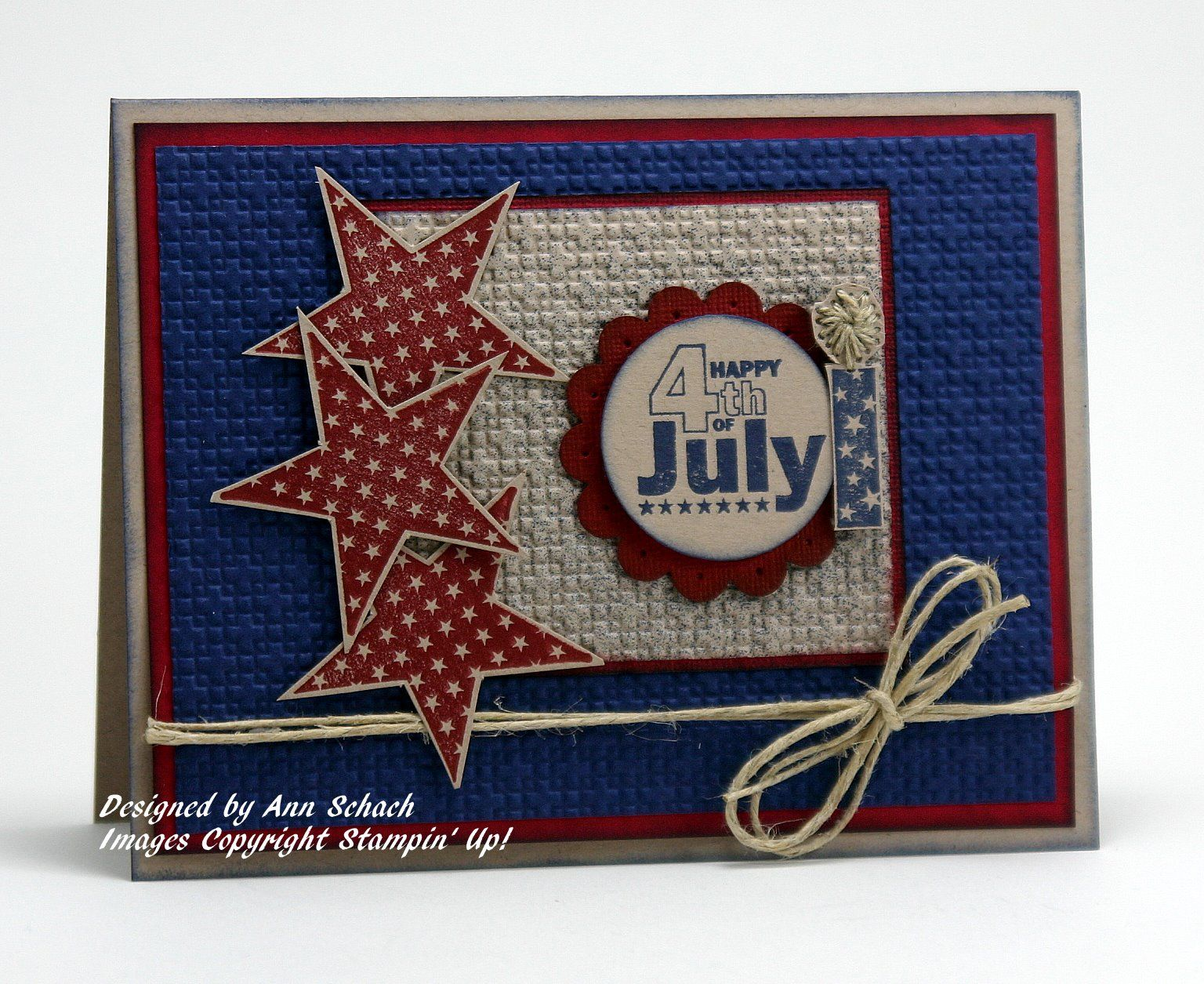 4th of july card  super cute layout  could be used for