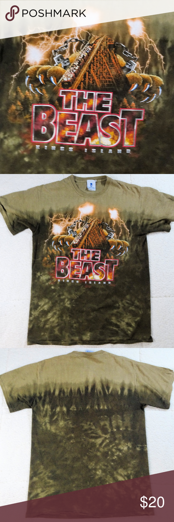 Kings Island The Beast T Shirt Medium Shirts Clothes Design Kings Island