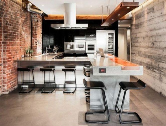 Idée relooking cuisine cuisine-industrielle-en-noir-et-blanc-modele - idee deco maison moderne