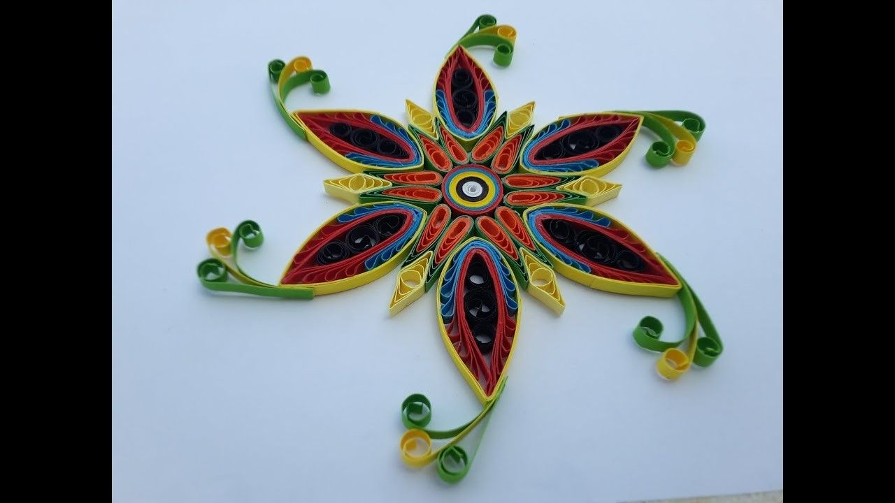 How To Make Paper Quilling Flowers Using Quilling Comb And Paper