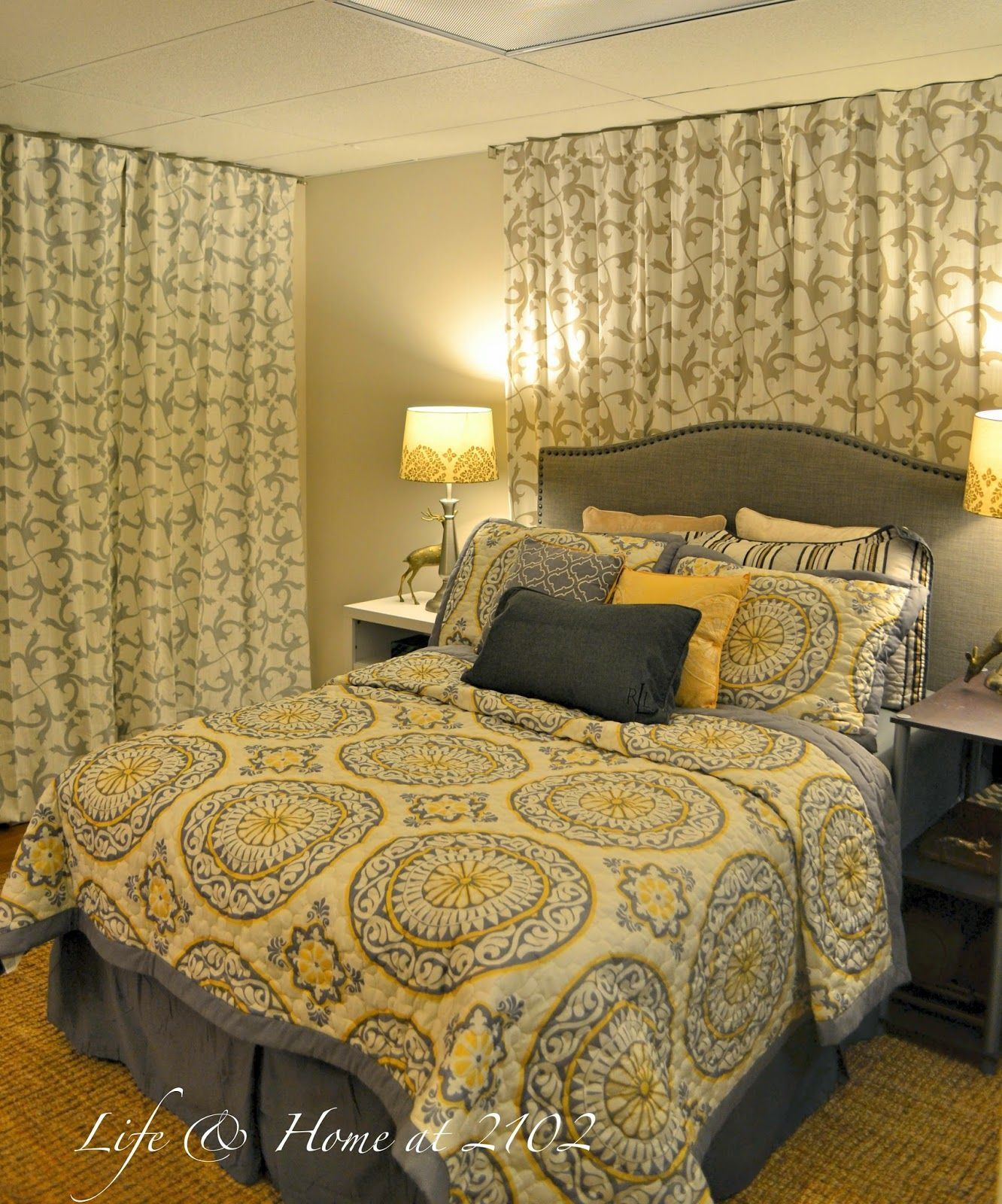 Bed with window behind it  guest bedroom makeover   marvelous makeovers   pinterest