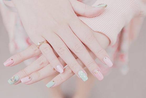 Cute Fashion Girly Kawaii Nail Art Nails Pastel Pink Style Naturalkoreanmakeup Korean Nail Art Tumblr Nail Art Korean Nails