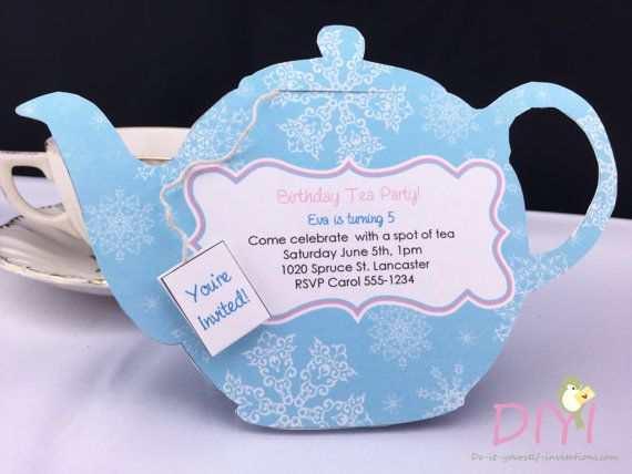 Printable Tea Party Invitation Disney Frozen By