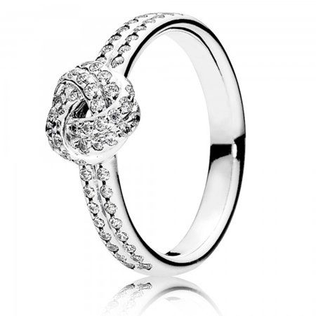 08083c744 Sparkling Love Knot Clear CZ Ring Size 7 - 190997CZ-54, Women's, Metal Type