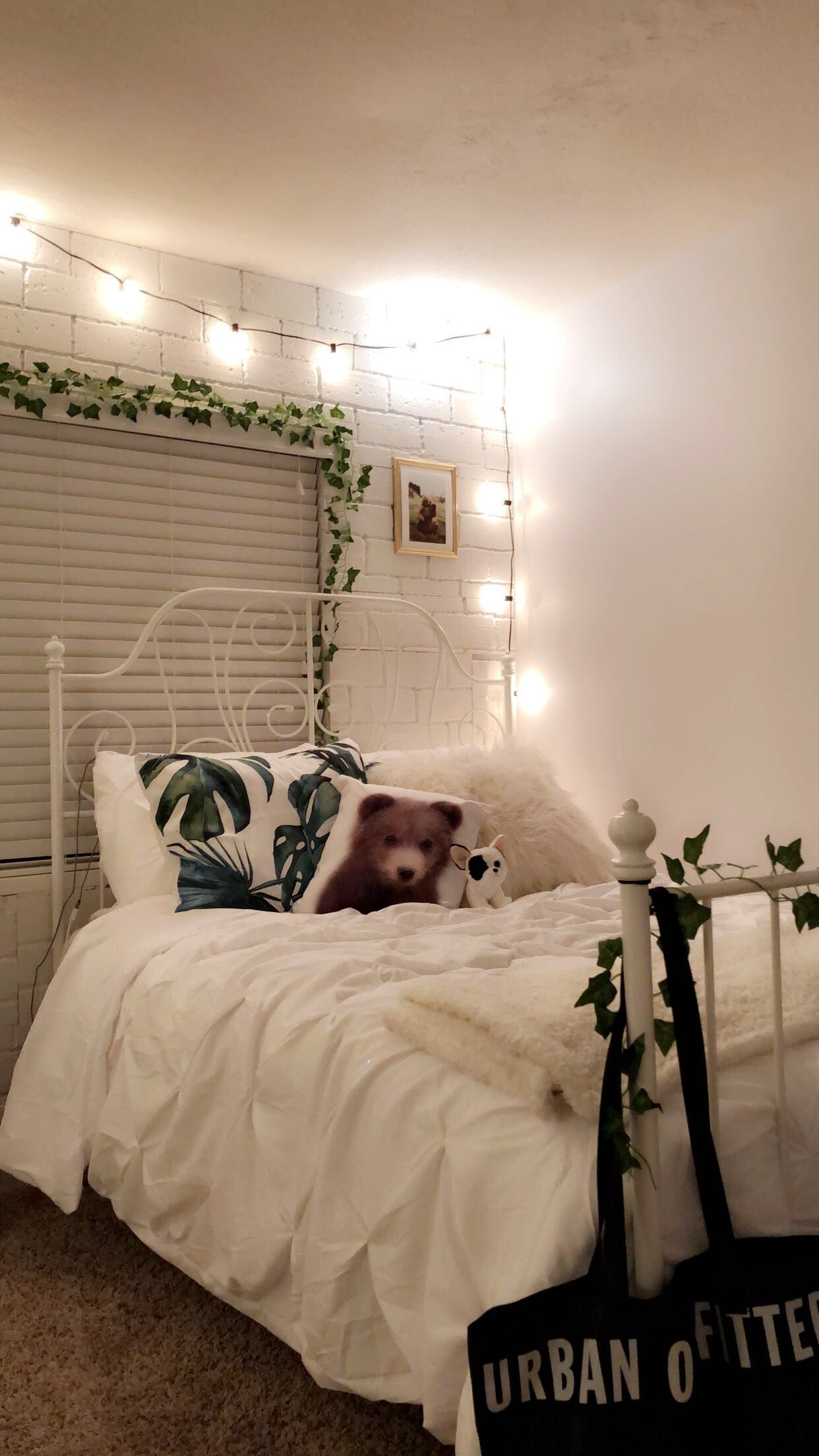 Tumblr Room Faux Brick Wall Minimalistic Bedroom White