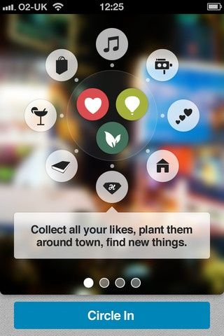 CircleMe lets you collect all your likes, plant them around town and discover new things in a fun and inspiring social way.