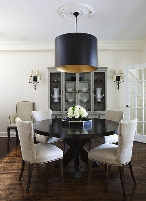 I like the china cabinet...color and wall sconces | Elegant ...