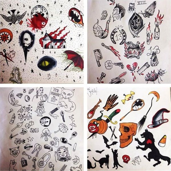 Un Lucky You 8 Spots For 13 Friday The 13th Tattoos Friday The