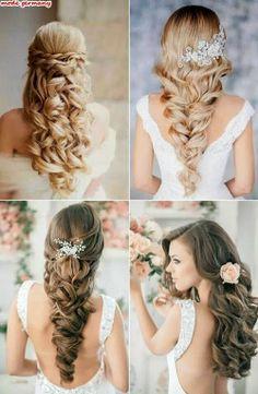Brautfrisuren geflochten mit schleier  Brautfrisur halboffen, ohne Schleier | hochzeit | Pinterest ...