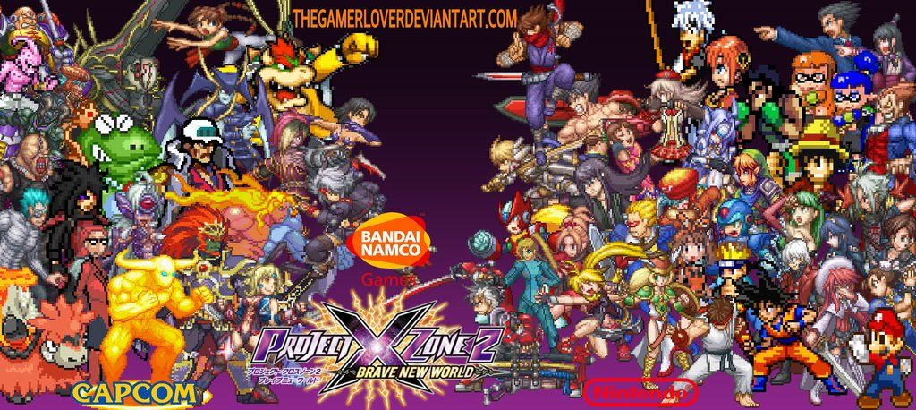 Project X Zone 2 Fanfiction Sprites Wallpaper By