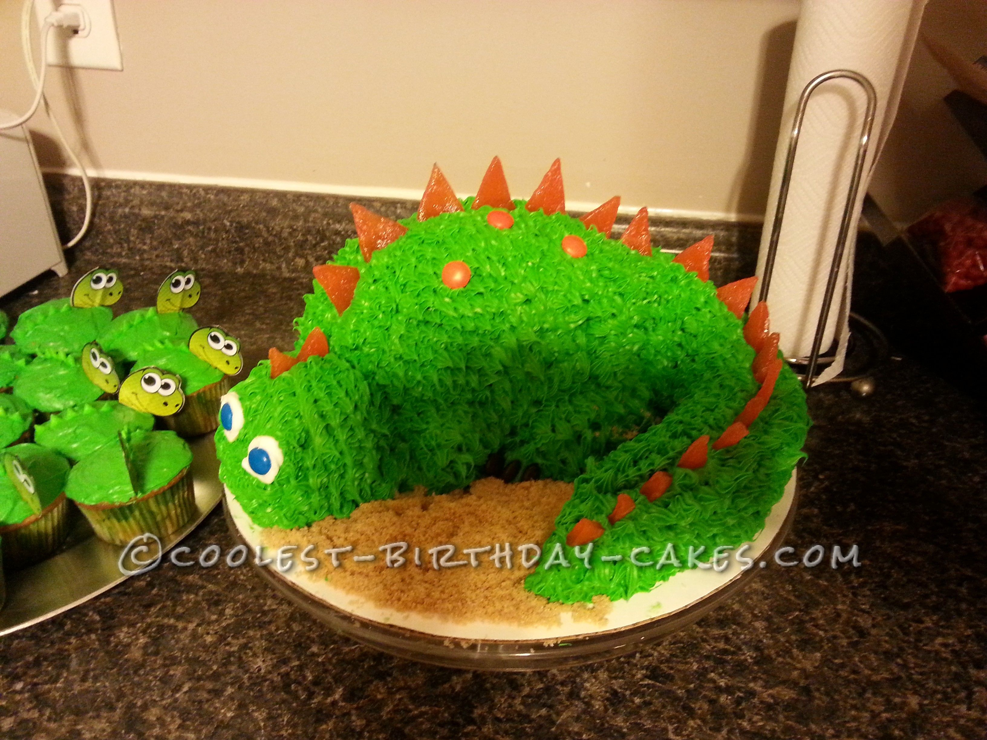 Admirable Awesome 3D Dinosaur Cake For A 4 Year Old Boy New Birthday Cake Personalised Birthday Cards Veneteletsinfo