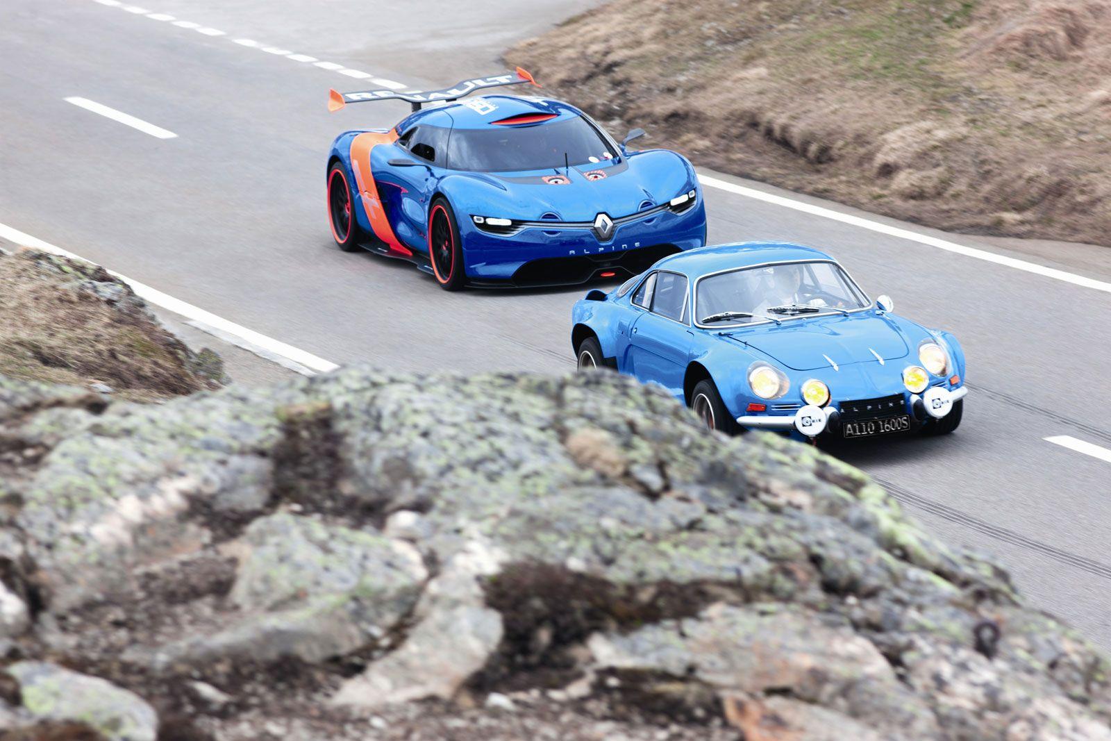 Renault Alpine A110 50 Concept And The Original Alpine A110 Renault Alpine Renault Cars