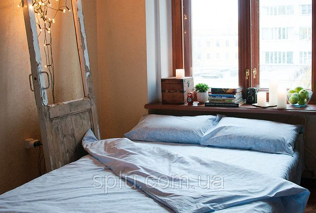 Голубое постельное белье с орнаментом из птиц, фото 5 ...