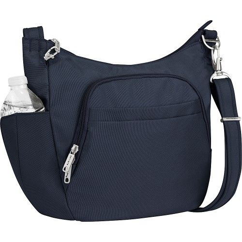 Travelon Anti-Theft Classic Crossbody Bucket Bag - Exclusive Colors, Women's, Size: Small, Black