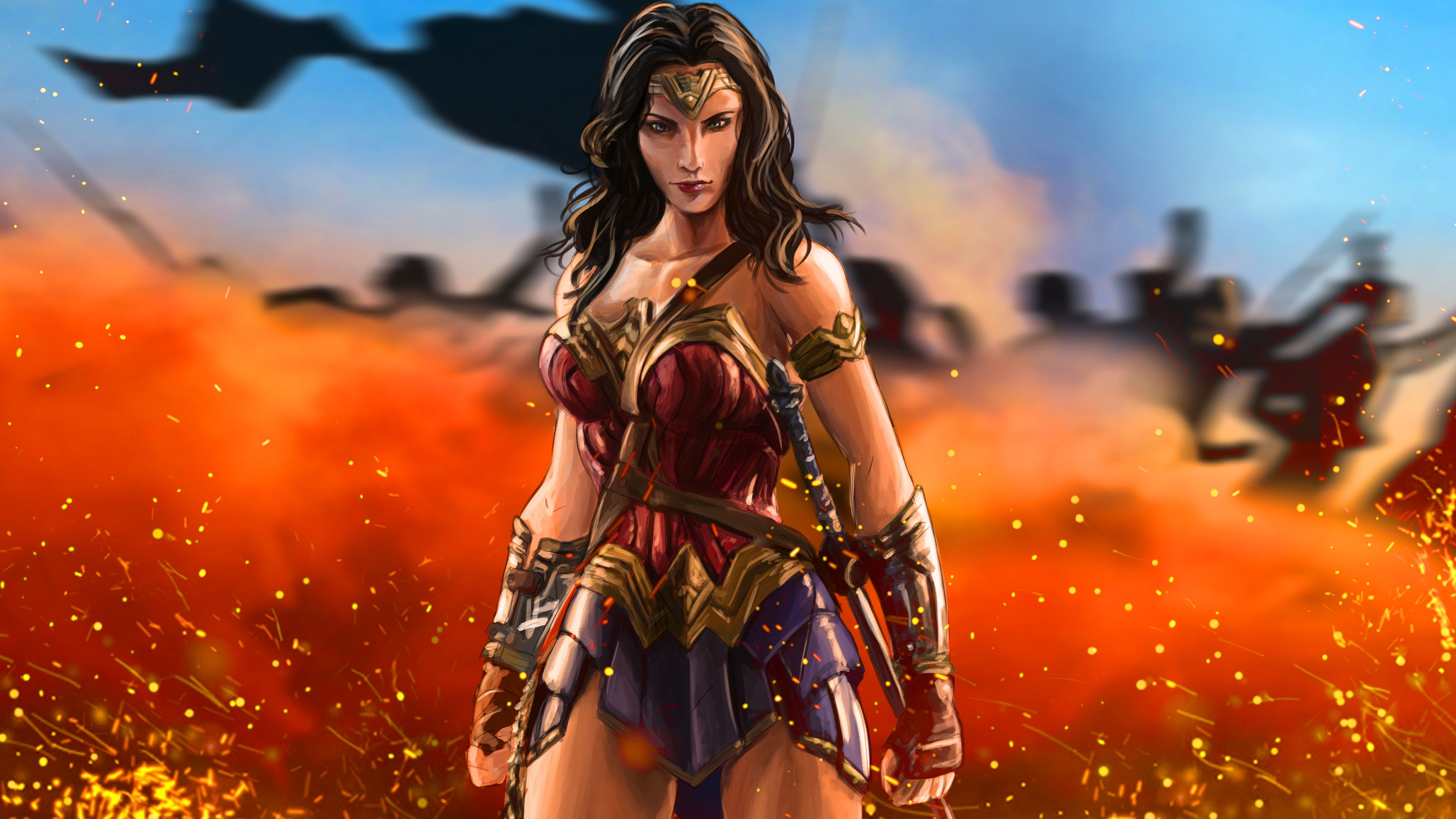 Wonder Woman Warrior Artwork 5k Wonder Woman Wallpapers Warrior Wallpapers Superheroes Wallpapers Hd Wallpapers D Warrior Woman Hero Wallpaper Wonder Woman