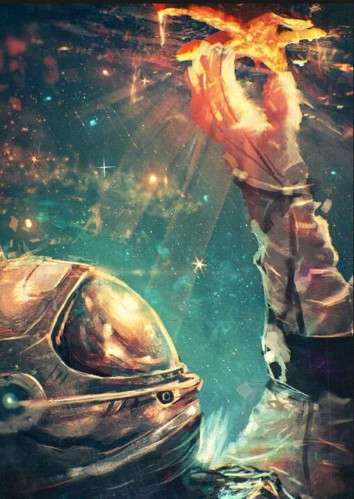 Astronaut - Diamond Painting Kit - 28x36''/70x90cm