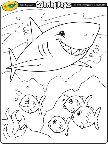 Shark Coloring Page Crayola Com Shark Coloring Pages Fish Coloring Page
