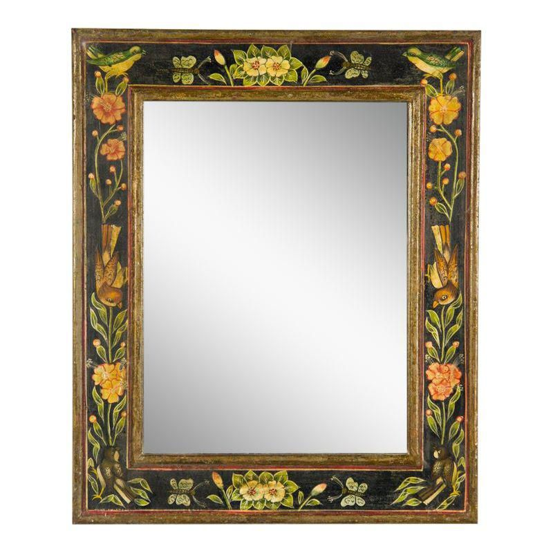Victorian Style Hand Painted Wall Mirror In 2020