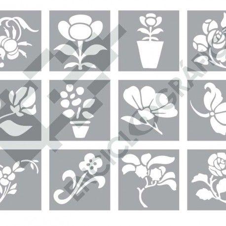 Pequenas Flores Para Stencil Stencils Cards Decor